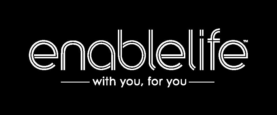 EnableLife White Logo